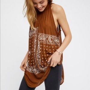 Free People Rust Romantics Good Vibes Tunic sz S